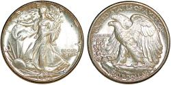 Us Coins - USA. Walking Liberty Half Dollars 1942. Choice UNC