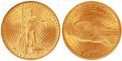 Us Coins - USA. Saint-Gaudens $20 1911 D. NGC MS65! (CAC) - OLD SLAB