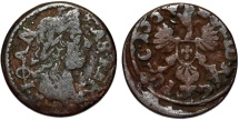 World Coins - Poland. King John II Casmir (1648-1668). Copper Solidus 1664. AVF