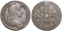 World Coins - Great Britain. Charles II (1660-1685). AR Crown 1679. Choice VF, toned