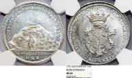 World Coins - GERMANY, Reuss-ältere Linie zu Untergreiz (Grafschaft). Heinrich III 1733-1768. AR 1/4 Speciestaler 1751. NGC MS64!