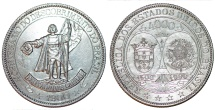 World Coins - BRAZIL, Republic. 1889-1930. AR 4000 Réis. Commemorating the Tercentennial of the Discovery of Brazil. UNC