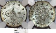 Turkey. Ottoman Empire. Abdul Hamid II. AG 5 Kurush AD 1903 (AH 1293//29). NGC MS62