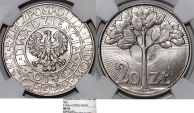 "World Coins - Poland. PRL (1945-1989). CuNi 20 zl. Pattern 'PROBA' 1973. "" TREE"". NGC MS65!"
