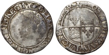 World Coins - Great Britain. Elizabeth I. 1558-1603. Sixt Issue. AR Shilling ND (ca. 1582-1600) mm. hand. Fine+