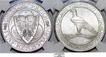 World Coins - Germany-Weimar Republic, Liberation of Rhineland, Silver 5 Reichsmark 1930A. NGC AU58