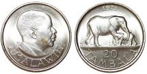 World Coins - Malawi. 20 Tambala 1971. UNC