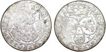 World Coins - Poland. Cracow. John II Casmir (1648-1668). Silver 6 Groschen 1662 AT. VG