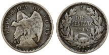 World Coins - Chile. Republic. AR 10 Centavos 1915. VF+