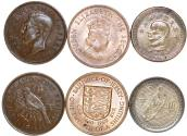 "World Coins - World Coins lot of 3 ""Islanders"". New Zealand, Island of Jersey and Taiwan, XF+-UNC."