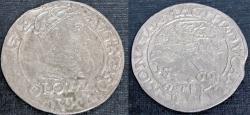 World Coins - Lithuania. G-Duke Sigismund II Augustus (1546-1572). Rare Silver Gross 1566. Fine+