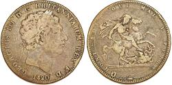 World Coins - Great Britain. George IIII (1760-1820). Silver Crown 1820 (LX).  Fine+.