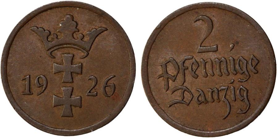World Coins - Free City of Danzig. 2 Phennige 1926. XF+
