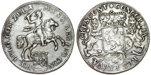 World Coins - Netherlands. Zeeland. AR Ducatone called: Silver Rider 1754. XF/Choice VF