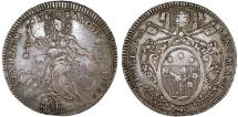 World Coins - Italian Papal States: Rome. Pope Pio VI (1775-1799) – Giovanni Angelo Braschi. AR Scudo 1780. Nice Choice VF