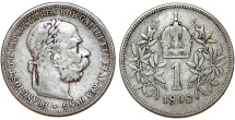 World Coins - Austria. Franz I Josef (1848-1916). Silver Corona 1898. VF, better date