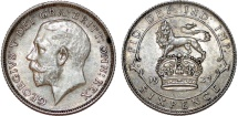 World Coins - Great Britain. King George V (1911-1935) Silver 6 Pence 1923. XF