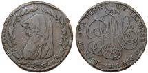 World Coins - Great Britain. North Wales. George III (1760-1820). Scarce Cu Penny 1788. VF