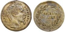 World Coins - Germany. Luis Napoleon III. Game Token  (Spiel-Marke) ca.1860. Nice Choice XF
