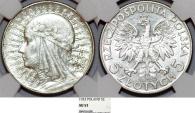 World Coins - Poland. II Republic (1918-1939). Silver 5 Zloty 1933. NGC AU53. nice