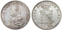 World Coins - Germany. Saxony. Friedrich August I (1806-1827), AR Konventionstaler 1824 S. Nice Choice XF