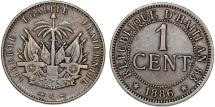 World Coins - Republic of Haiti , SINCE 1863. AE 1 Cent 1894. VF