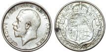 World Coins - Great Britain. king George V. AR Half Crown 1915. Choice VF