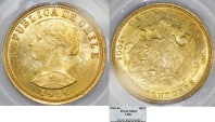 World Coins - CHILE, Republic. 1818-present. AV 100 Pesos – 10 Condores 1926-So. PCGS MS62