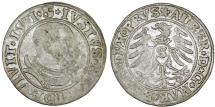 World Coins - Duchy of Prussia (Ex-Teutons State). Albrecht von Hohenzollern (1525-1568) Silver Gross 1531, about VF