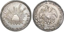 World Coins - Mexico. Republic. AR 4 Reales 1849 Zs-OM. VF+/XF