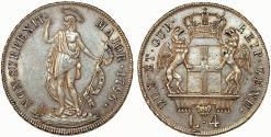 World Coins - Italian States. Genoa. The Biennial Doges (1528-1797). Silver 4 Lire 1796. Toned AU