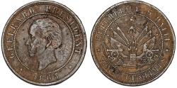 World Coins - Republic of Haiti , SINCE 1863. AE 20 Cents 1863. XF
