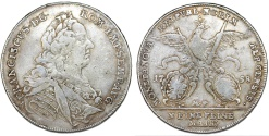 World Coins - GERMANY, Nurnberg City, Struck in name of H.R.E. Franciscus I. SIlver Kov-taler 1758 M.F. About VF