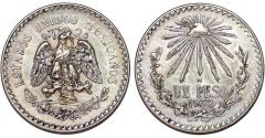 World Coins - Mexico. Republic. AR Peso 1932 Mo. Choice AU