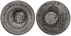 World Coins - Brazil. Pedro I. CU 20 Reis 1827. Fine+
