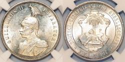 World Coins - German East Africa. King Wilhelm II (1888-1918). AR Rupie 1890J. NGC MS62!