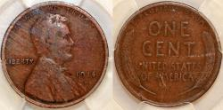 Us Coins - Lincoln Cents, Wheat Reverse 1914 D. PCGS VG10!