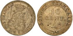 World Coins - French Guyana. Louis Philippe (1830-1848). 10 Cents 1846 A. Choice VF, toned.