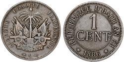 World Coins - Republic of Haiti , SINCE 1863. AE 1 Cent 1894. VF