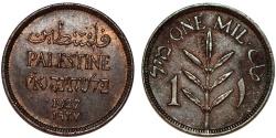 World Coins - Palestine. AE 1 Mil 1927. AU