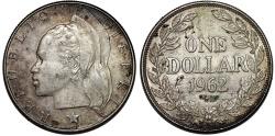 World Coins - Liberia. Republic. Silver 1 Dollar 1962. XF