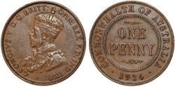World Coins - British Commonwealth Australia. Copper 1  Penny 1936. Choice XF