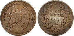 World Coins - Chile. Republic. 20 Centavos 1899. About Very Fine