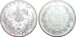 World Coins - Egypt. Muhammad V. AR 10 Qirsh (AH1293/29) (1903).  XF/VF