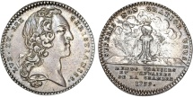 "World Coins - France. LOUIS XV 'THE WELL-BELOVED' (1715-1774) . AR Jeton ""Treasury Reform "" 1739. aXF"