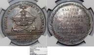 "World Coins - Poland. Rzeczypospolita. Commemorative Silver medal by J Holzhaeusser 1774. ""On the Death of Maria Czapska"" NGC AU53"
