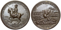 """World Coins - Germany: Kingdom of Prussia. AE48 Medal """"Victories of Rosbach and Lissa"""" 1757. Choice AU, toned"""