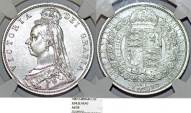 Great Britain. Queen Victoria (1837-1901) AR Nice Half Crown 1887. NGC AU55