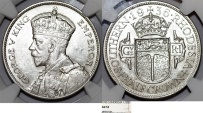 World Coins - British Colony. Southern Rhodesia. Silver Half Crown 1936. NGC AU53