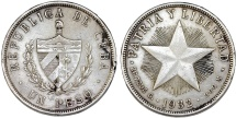World Coins - Cuba. Republic. Silver 1 Peso 1932. XF, lightly toned